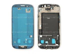 Samsung Galaxy S3  i9300 přední rám, stříbrný