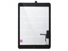 iPad Air čelní sklo + digitizer - černý SINTECH© Premium, osazený Home button