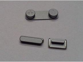iPhone 5S šedý set tlačítek (volume, mute a power button)