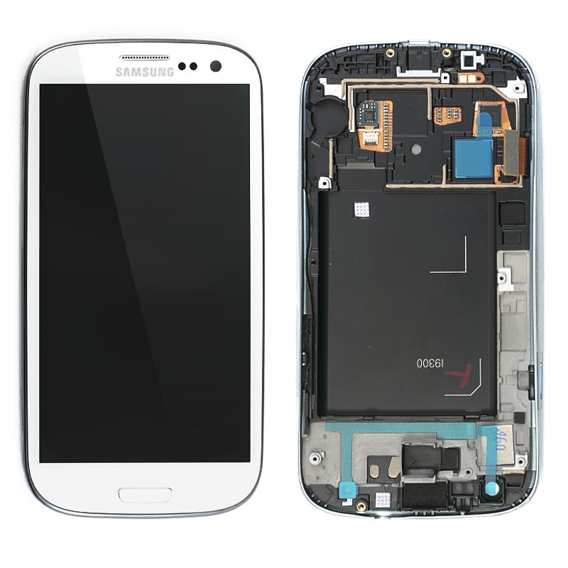 Samsung i9300 Galaxy S3 white LCD Display + dotyk + přední kryt